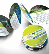Schubert Tennis Die-Cut Tennis Ball Brochure