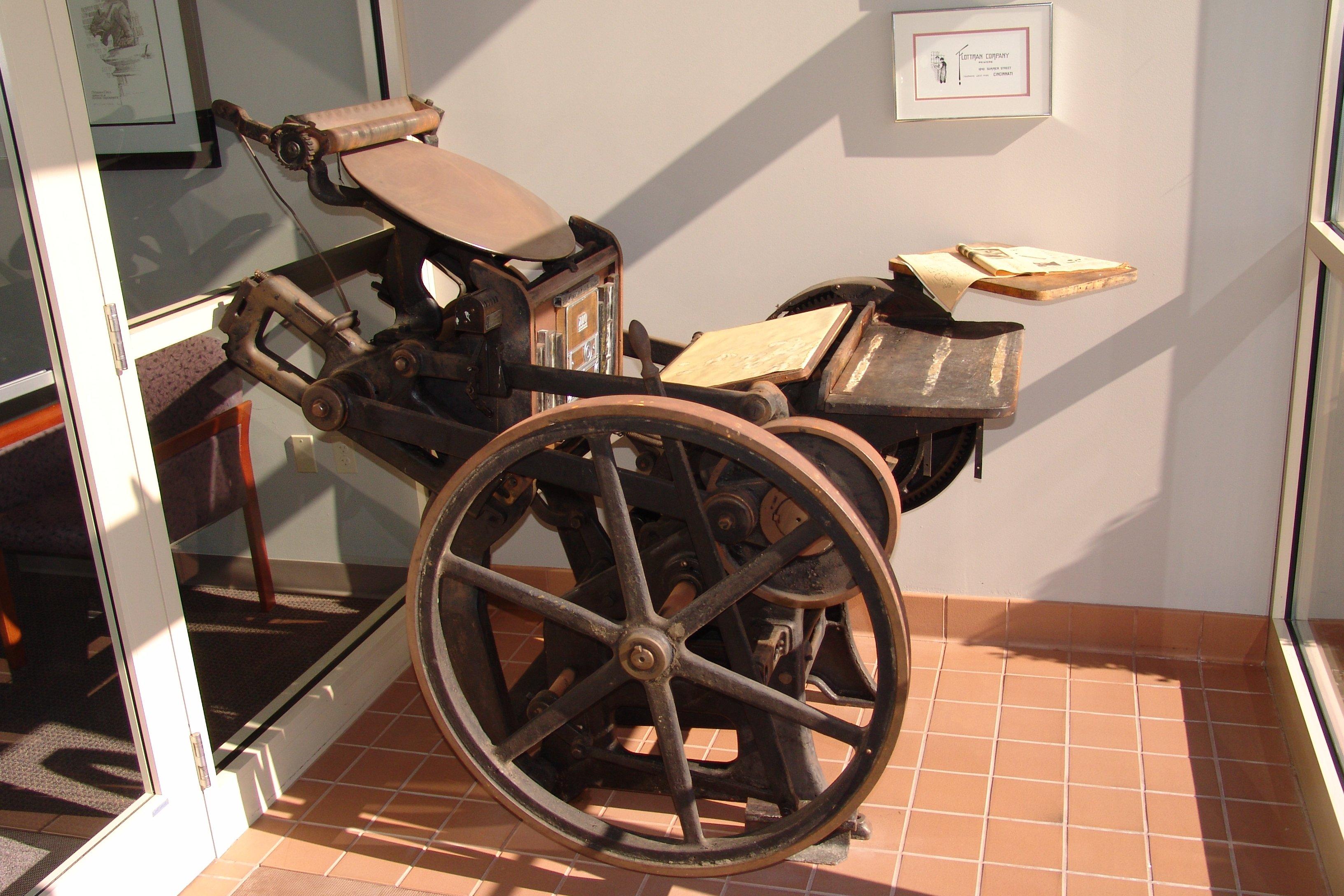 Flottman Original Printing Press