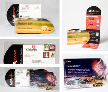 The first and second direct mail pieces utilized our commercial folding expertise.