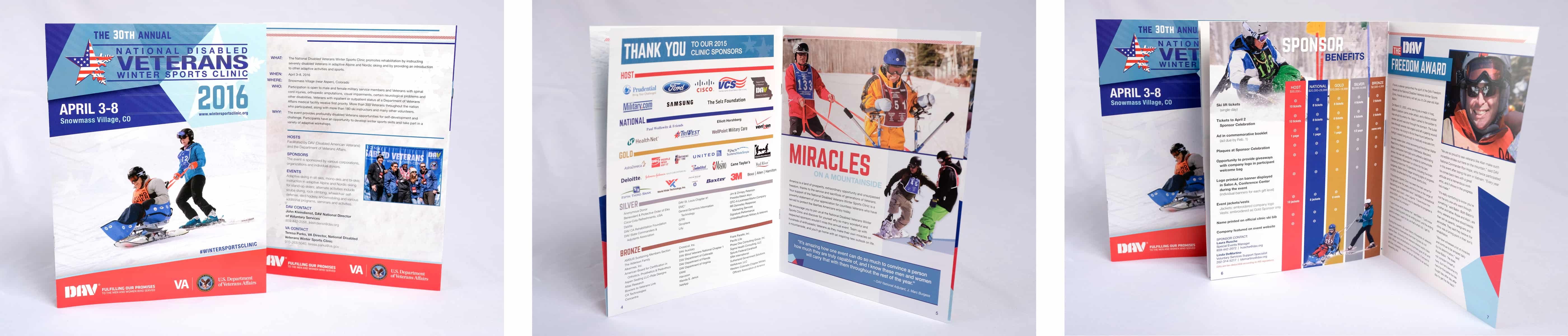 The eight-page promotional booklet encouraged sponsorship for the clinic.