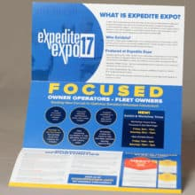 commercial folded event materials