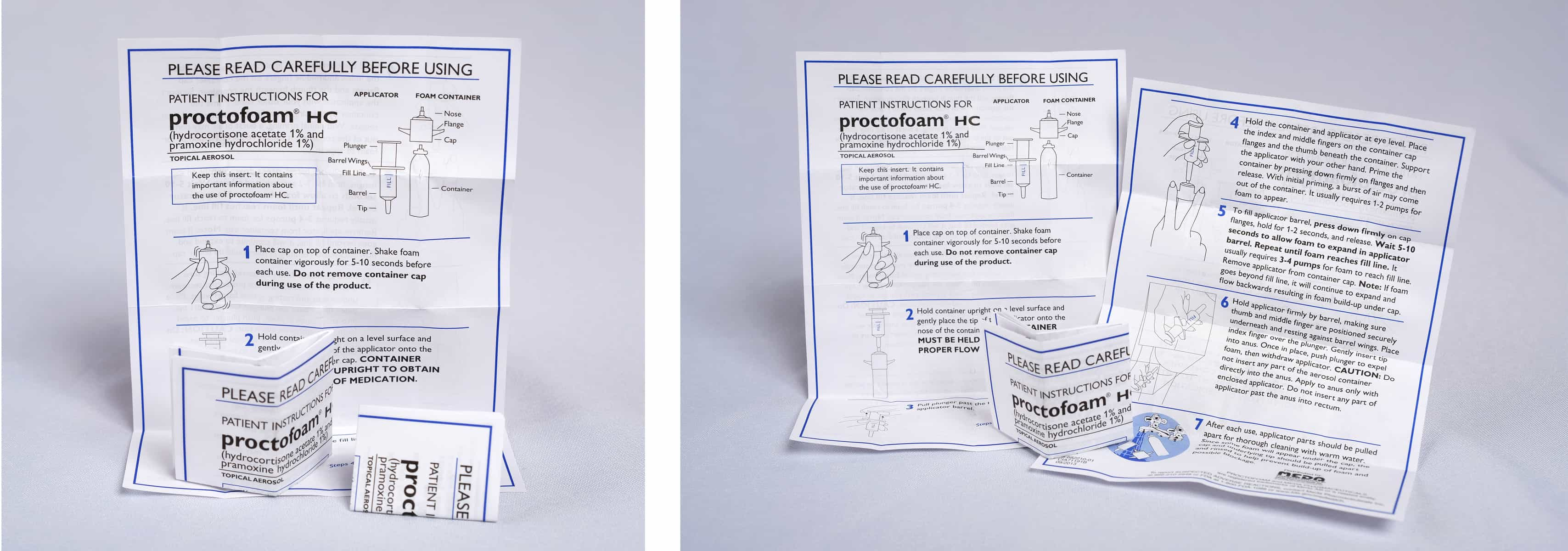 Miniature folding pharmaceutical instruction sheet
