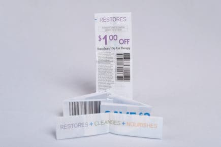 Miniature Folded Coupon Insert