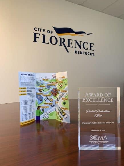 3CMA Excellence Award - City of Florence, Kentucky - Public Services Department Brochure
