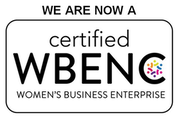 We are a certified Woman's Business Enterprise, WBENC